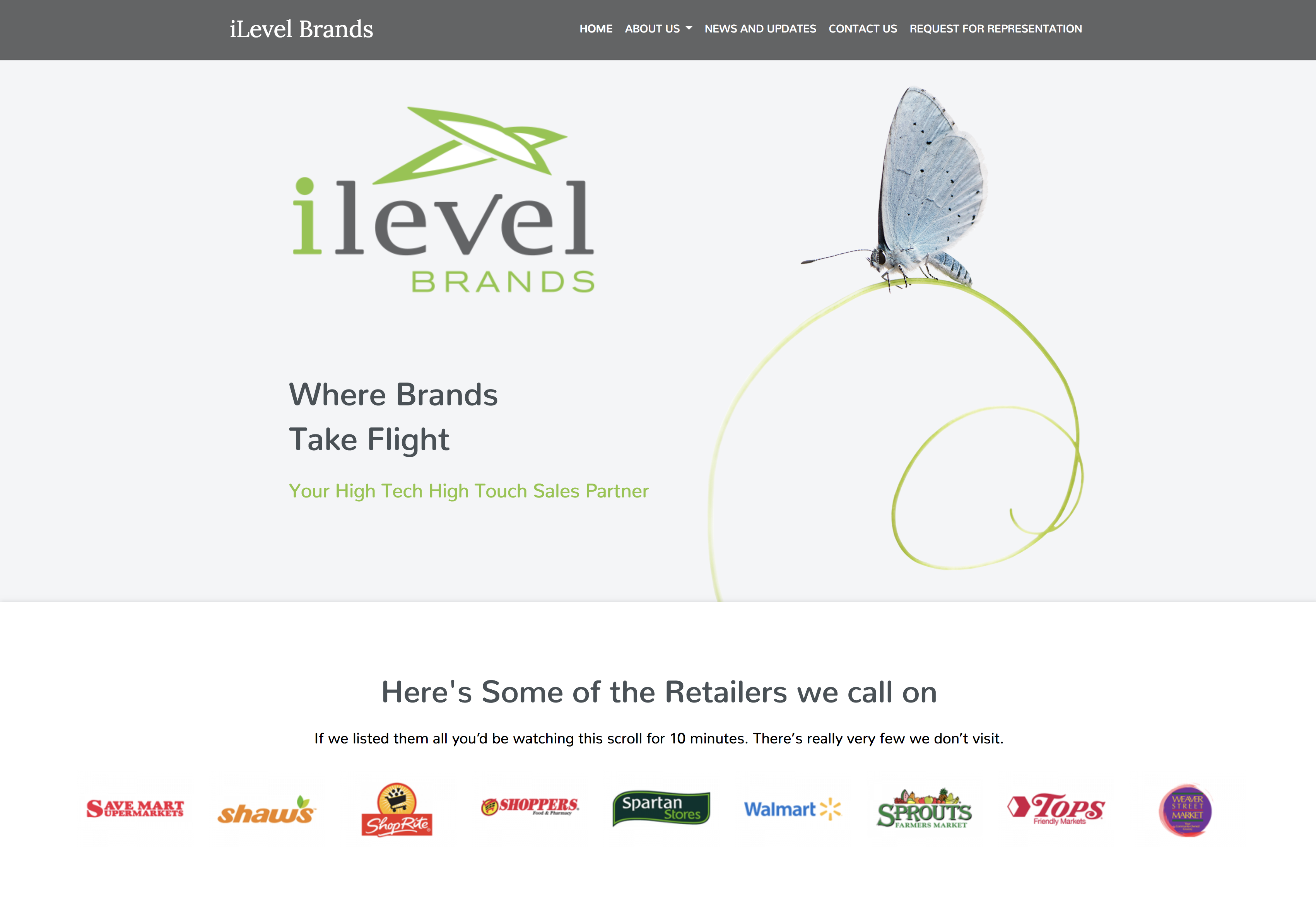 Site Redesign iLevel Brands
